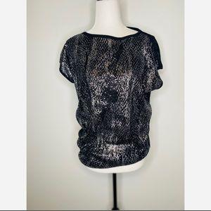 Michael Kors Black Sequin Blouse Shortsleeved top